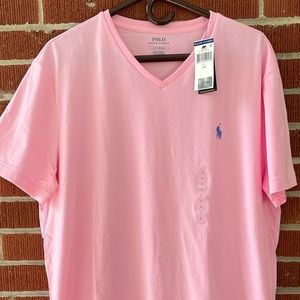 NWT Men's Polo Ralph Lauren Vneck T-shirt Lg